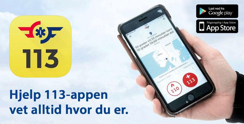 Norsk Luftambulanse Hjelp 113-appen 850px